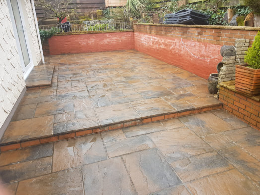 Softwash Patio Cleaning